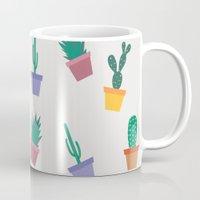 cactus Mugs featuring cactus by Brukk