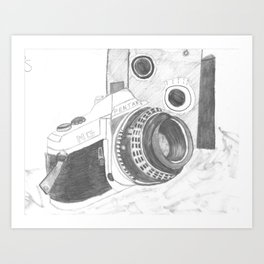 Pentax Illustrated Art Print
