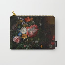 "Rachel Ruysch ""Roses, Convolvulus, Poppies, and Other Flowers in an Urn on a Stone Ledge"" Carry-All Pouch"