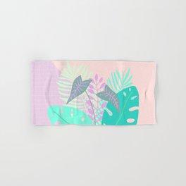 Modern tropical leaves print with monstera Hand & Bath Towel