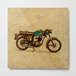 Ducat 125 Aurea 1958 motorcycle vintage bike poster Metal Print