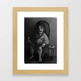 Portrait of a Plumber Framed Art Print