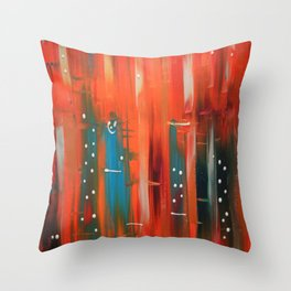 There's a Scraper in My City Throw Pillow
