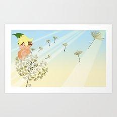 Resting on a dandelion Art Print