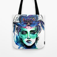 cancer Tote Bags featuring Cancer by Gabi Xavier