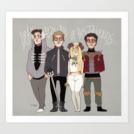 Death And All of His Friends Art Print