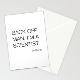 Ghostbusters Bill Murray Quote Stationery Cards