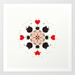 Cat Mandala 1 Art Print