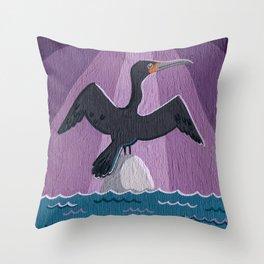 Air Cormorant Throw Pillow