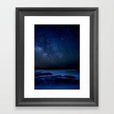 Dark Night California Coastal Waters Framed Art Print
