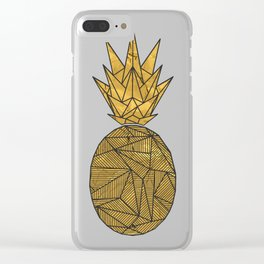 Bullion Rays Pineapple Clear iPhone Case
