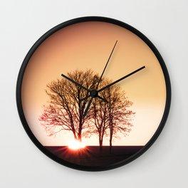 powerful light of nature Wall Clock