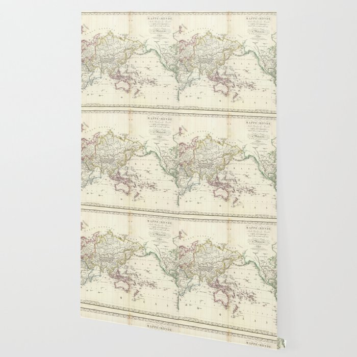Vintage Map of The World (1816) Wallpaper
