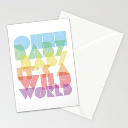 Ohhh Baby It's A Wild World Stationery Cards