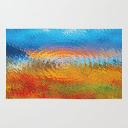 colorful vibrations Rug