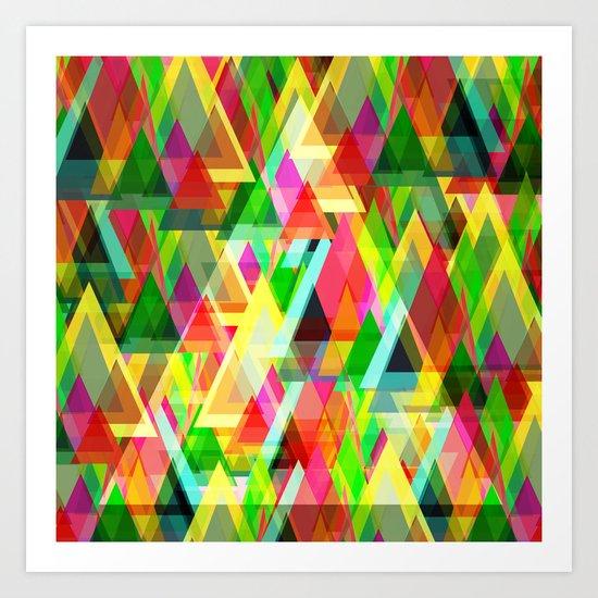 Triangle Frenzy Art Print