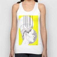 yellow pattern Tank Tops featuring Yellow by Raxa Russian Roulette