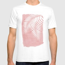 Pink Paint Stroke of Palm Leaves T-shirt