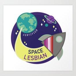 Certified Space Lesbian Art Print