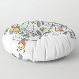 Watercolor Floral Floor Pillow