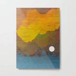 Cloudy Sea Metal Print