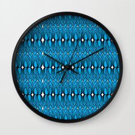 Blue Flames Wall Clock