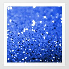 Glitter Blue Art Print