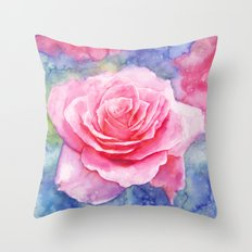 And the rain stopped Throw Pillow