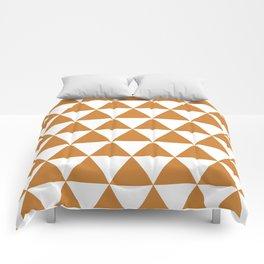 Triangles (Bronze/White) Comforters