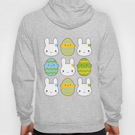 Kawaii Easter Bunny & Eggs Hoody
