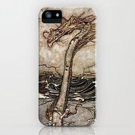 """Sea Serpent"" by Arthur Rackham iPhone Case"