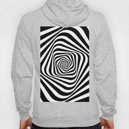 Retro Mod Black and White Spiral Hoody