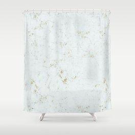 Aqua Marble Gold Mine Shower Curtain