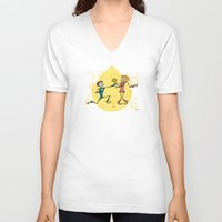 lovers V-neck T-shirts featuring Lovers by Giuseppe Lentini