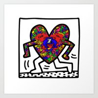 keith haring Art Prints featuring Keith Haring by men90