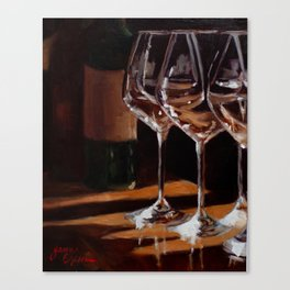 Wine Tasting with Friends Canvas Print