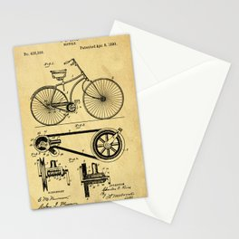 Bicyole Support Patent Drawing From 1890 Stationery Cards