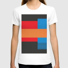 Vintage 60's Geometric Shapes and Stripes Abstract T-shirt