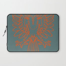 red double-headed eagle on gray background Laptop Sleeve