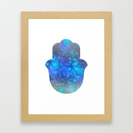 Watercolor Splatter Hamsa Hand Framed Art Print