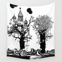 The Whale and The Balloons Wall Tapestry