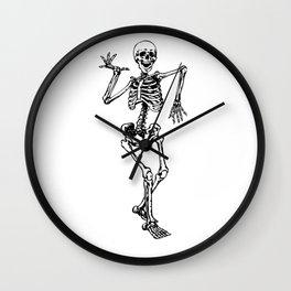 Skeleton Happy Dancing Wall Clock