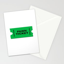 Pawn Ticket Stationery Cards