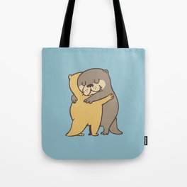 Otter Hugs Tote Bag