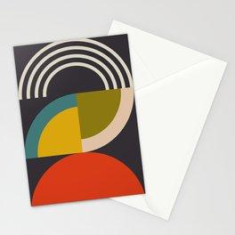 mid century bauhaus geometric large 3 Stationery Cards