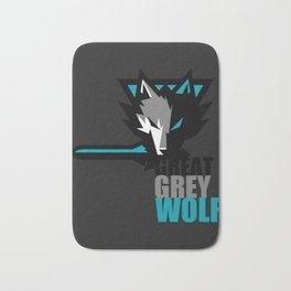 Great Grey Wolf Bath Mat