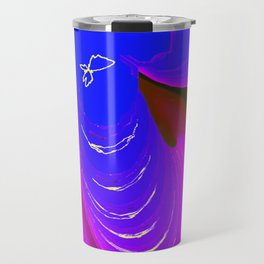 Blue Leaf Clover Travel Mug