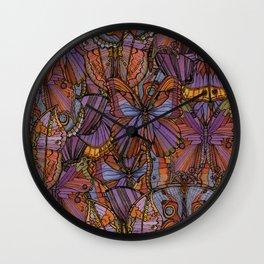 Cool Moths and Butterflies Wall Clock