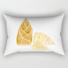 Illustration of fresh winter Bamboo Shoots Rectangular Pillow