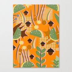 Autumn mushrooms Canvas Print